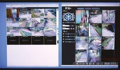 На мониторах в дежурной части «Альфы» выводятся кадры  с видеокамер на охраняемых объектах